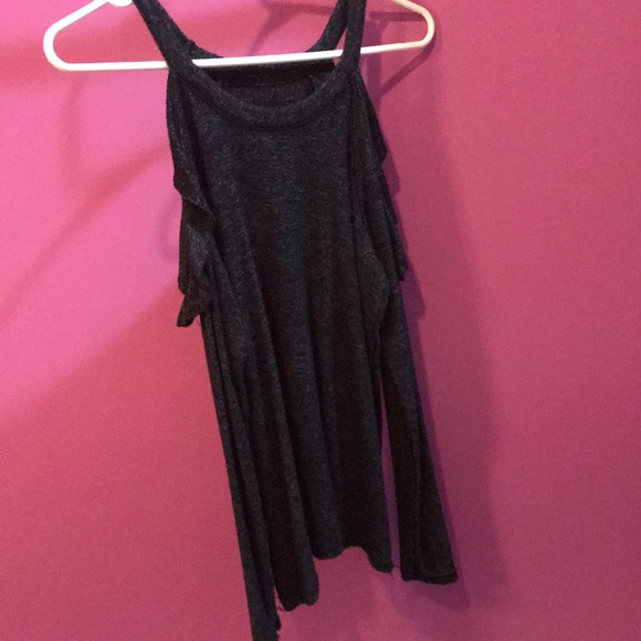 American Eagle Outfitters Tops - Off the shoulder black American Eagle shirt